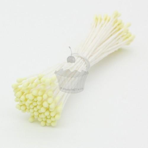 Caketools - kvetinové piestiky - malé žlté matnÉ - 72ks