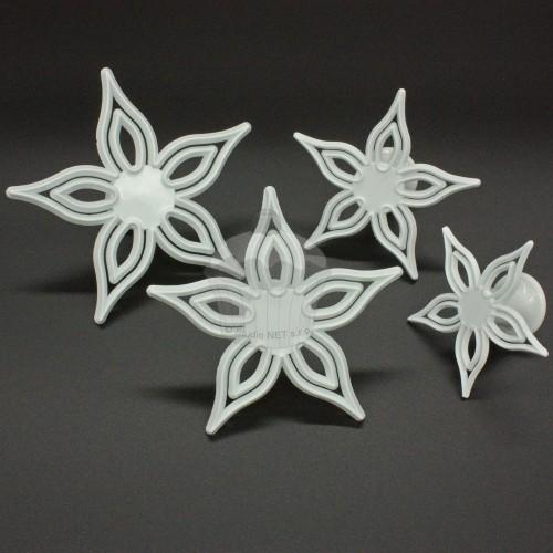 Sada vykrajovačiek - čipkovaná kvetina - 4ks