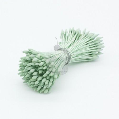 Kvetinové piestiky - matné malé špicaté - zelené - 72ks