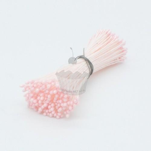 Kvetinové piestiky - malé ružové perleťové - 72ks