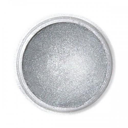 Jedlá prachová perleťová farba Fractal - Dark Silver, Sötét metál ezüst (2,5 g)