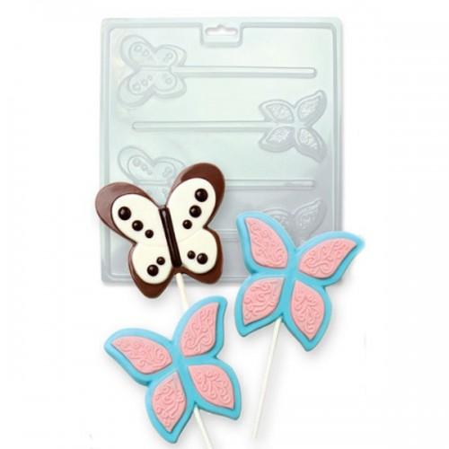 PME Forma na čokoládová lízanky - motýle