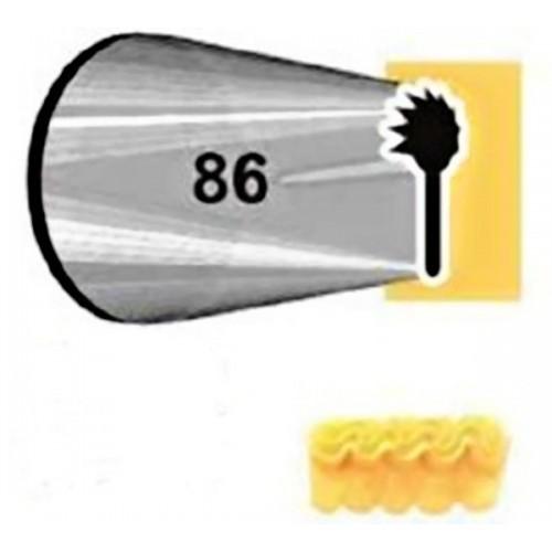 JEM trezírovací špička - rezaná - volánikové č.86
