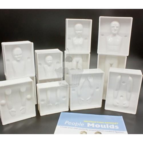 Plastové formy na postavy - 2 + 2