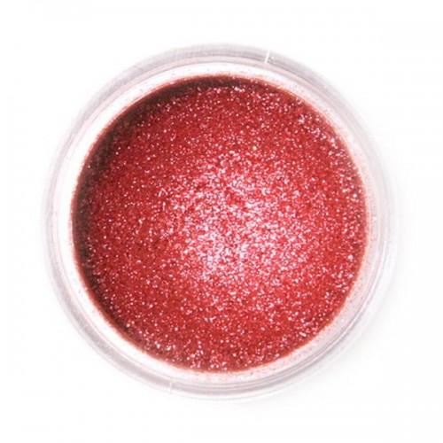 Jedlá prachová perleťová farba Fractal - Sparkling Deep Red, Szikrázó vörös (3,5 g)