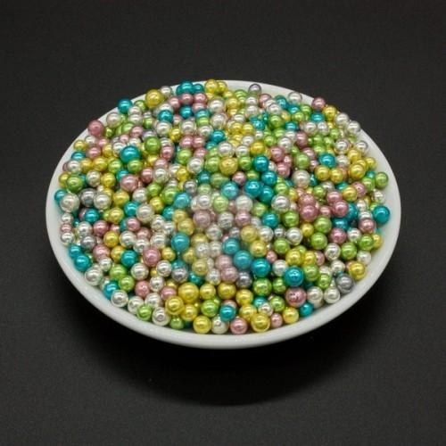 Cukrovej perličky II. 5mm - dúhové farebné - 50g