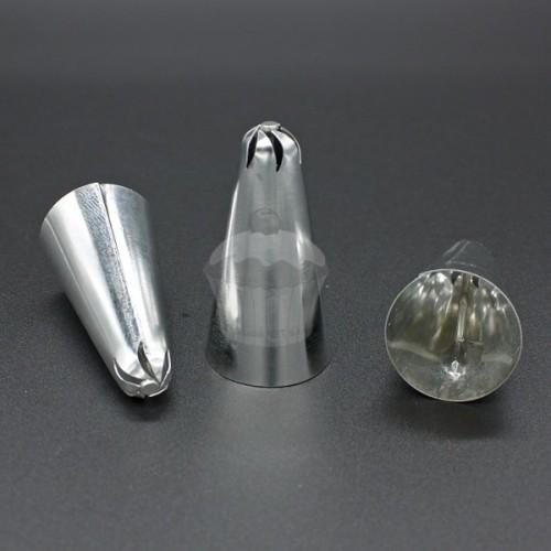 Zdobiace špička - rezaná klopená so stredom - 6 zubov