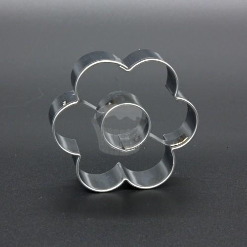 Nerezové vykrajovátko - kvetinka veľká + koliesko