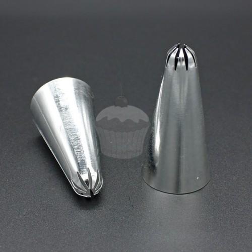 Zdobiace špička - rezaná klopená - 9 zubov