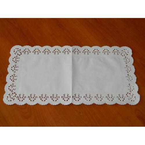 Papierové čipky pod tortu - obdĺžnik 25 x 38cm /6ks