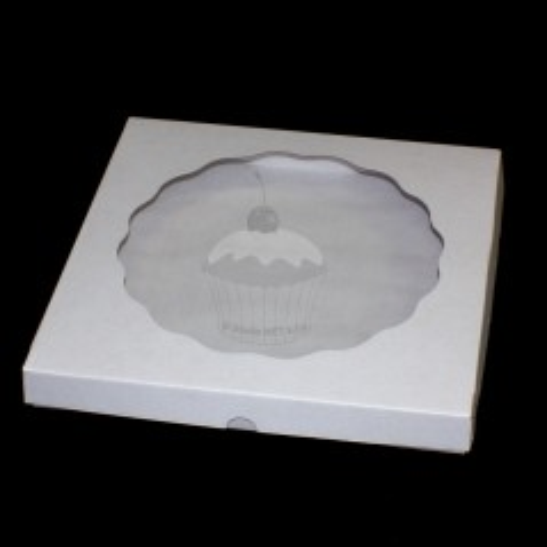 Krabička s priehľadným vekom - biela - 33,5x33,5 cm