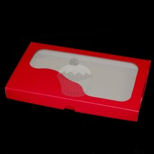 Krabička na cukroví - pevná - červená - 1kg