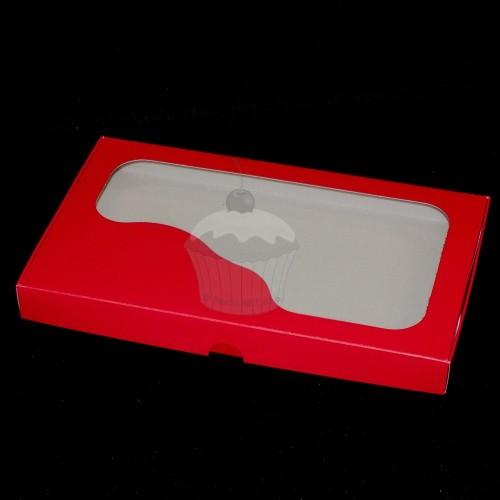 Krabička na pečivo - pevná - červená - 1kg