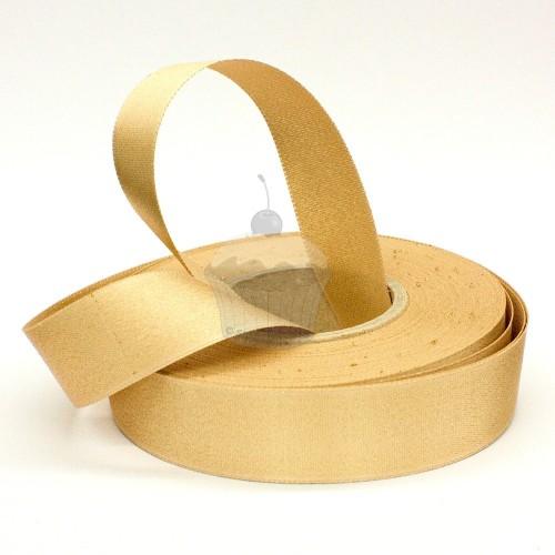 Atlasová stuha - zlatá  20m / 24mm