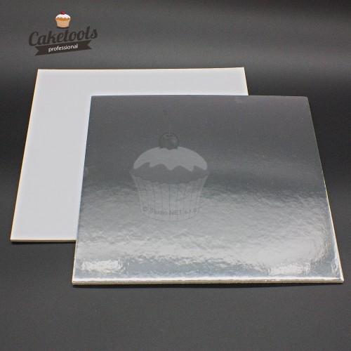 Caketools podložka pod tortu strieborná 35cm /0,3cm štvorec