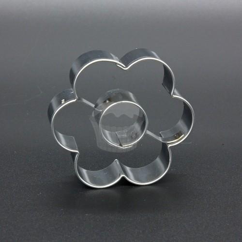 Nerezové vykrajovátko - kvetinka malá + koliesko