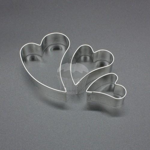 Set Cutters - heart oblique 3pcs