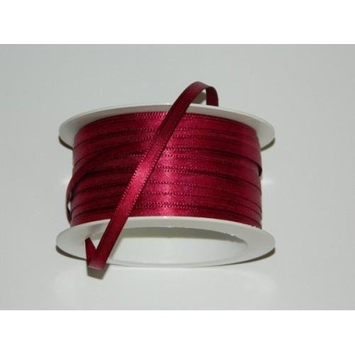 Satin ribbon - burgundy 20m / 5 mm