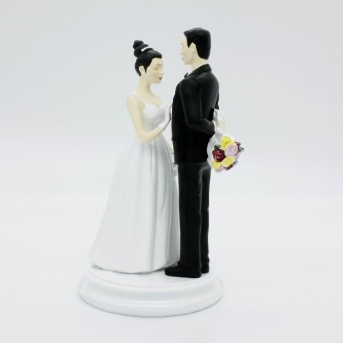 Svadobné figúrky - s kyticou
