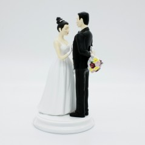 wedding figurines - with flowers