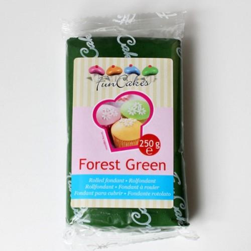 FunCakes potahový fondán forest green - tmavozelený 250g