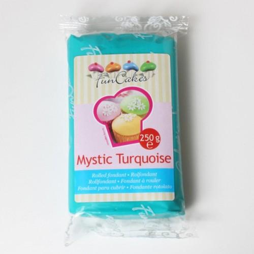 FunCakes potahový fondán Mystic Turquoise  - tyrkysová 250g