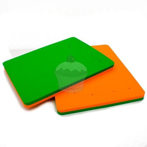 Modelovací pěnová podložka - oranžovo - zelená