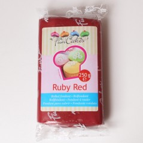 FunCakes potahový fondán - Ruby Red - rubínová 250g
