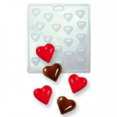 PME Forma na čokoládová lízanky - mini srdce