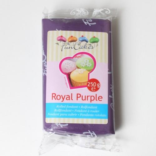 FunCakes potahový fondán Royal Purpl - kráľovská fialová 250g