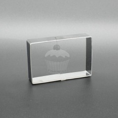 Stainless steel cutter - Rectangle 6,3 x 4,1cm