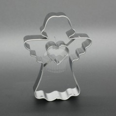 Stainless steel cutter - angel II. with heart