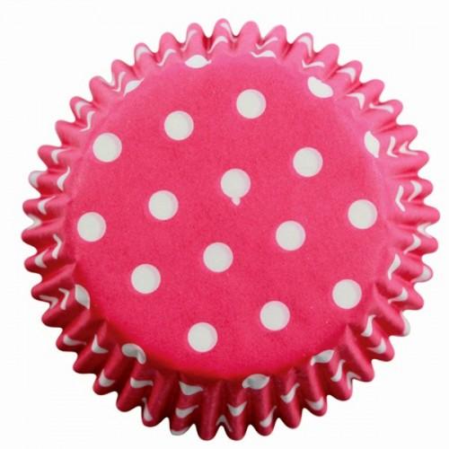 PME cukrárske košíčky - ružové / bodky 60 ks