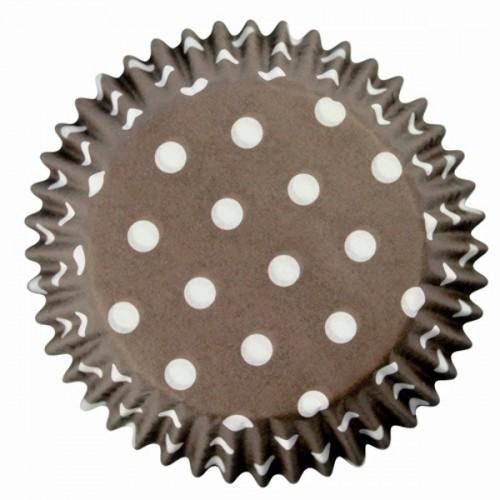 PME cukrárske košíčky - hnedé / bodky 60 ks