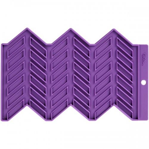 Wilton silikónová podložka - Presné vzory - rybia kosť