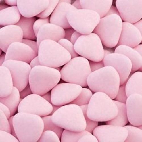 Čokoládová srdiečka - růžová - 50g
