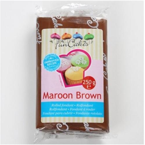 FunCakes poťahový fondán Maroon Brown - hnedý - 250g