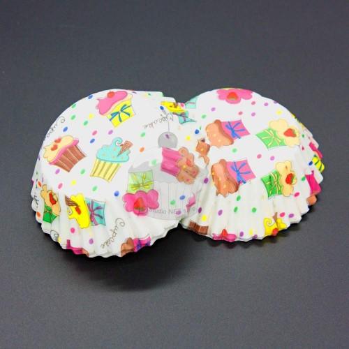 Pada cukrárske košíčky - biele party muffin 50ks
