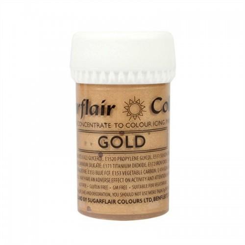 Sugarflair gélová farba - zlatá - Gold 25g