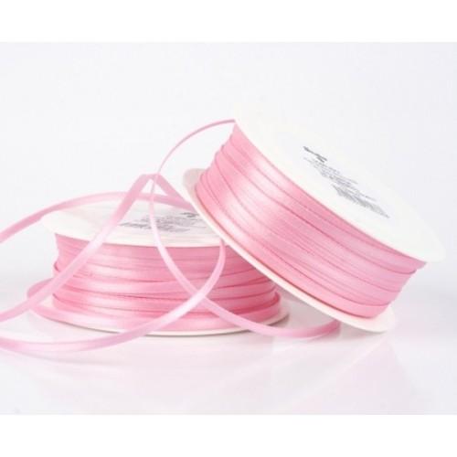 Satin ribbon - light pink 20m / 5 mm