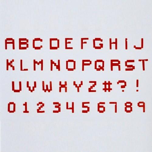FMM Velká abeceda a čísla - Pixel