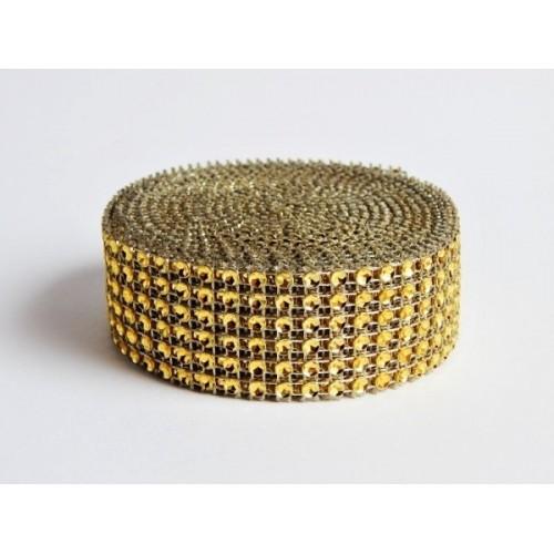"""""""Diamantový"""" pás - zlatý 3cm x 4,57m"""