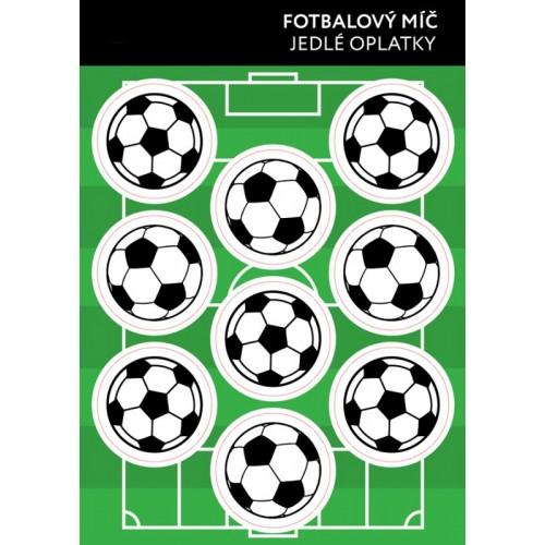 Jedlý papier karta - futbalová lopta - 9ks