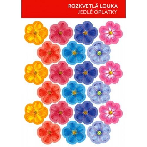 Jedlý papier karta karta - Kvety mix - farebné - 21ks