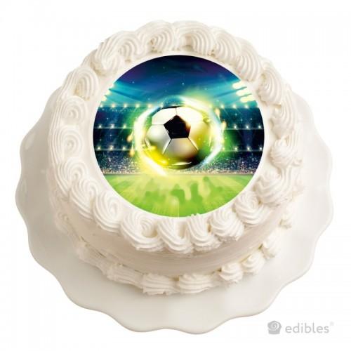 Jedlý papier karta guľatý - futbal - 1 + 10ks