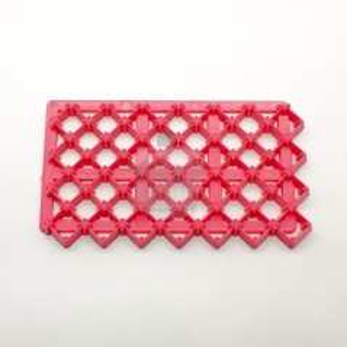 Pink Impression mat - small square - aureate