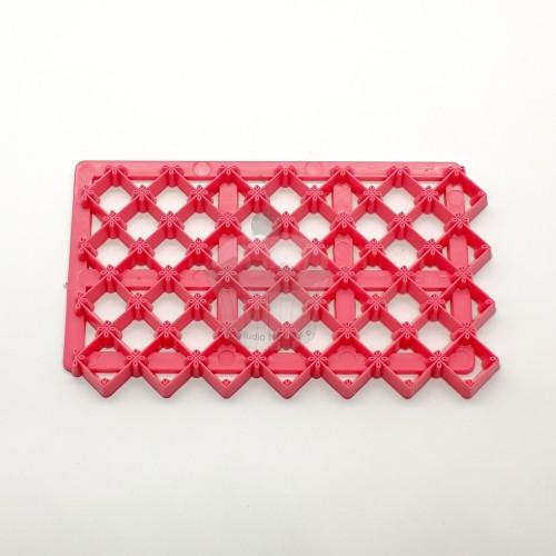 Růžová otiskovací podložka - čtvereček malý ozdobný