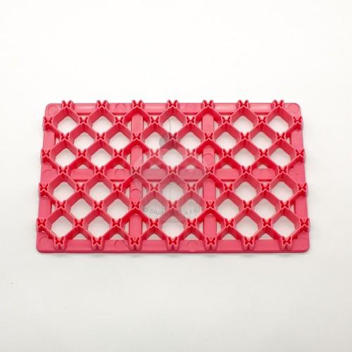 Ružová odtlačková podložka - štvorček malý + motýľ