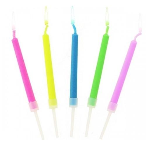 Sviečky s farebným plameňom - 5ks