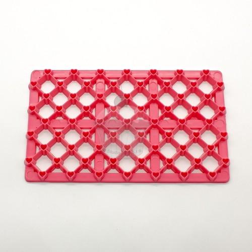 Ružová odtlačková podložka - štvorček malý + srdiečko